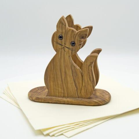 Porta tovaglioli in legno d'ulivo