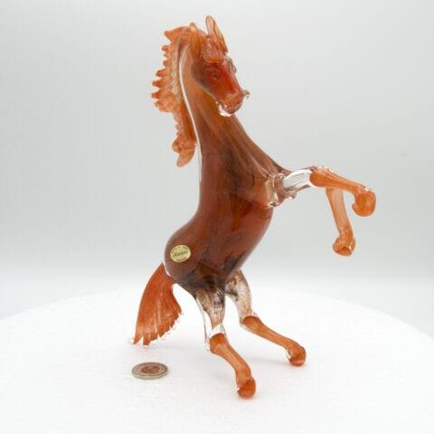 Cavallo rampante in vetro di Murano