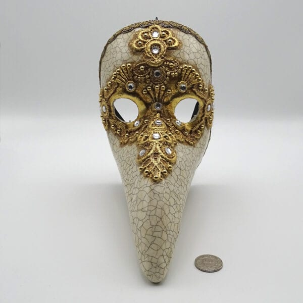 Maschera medico peste dorato
