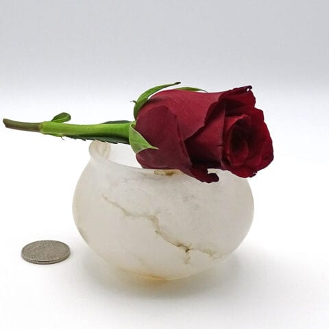 Vasetti per cosmetici in alabastro