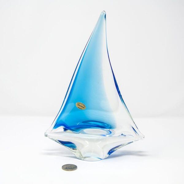 Barchetta a vela in vetro di Murano - Piccola