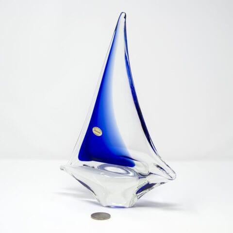 Barchetta a vela in vetro di Murano – Piccola