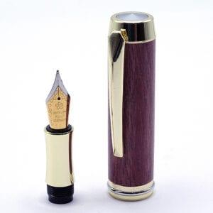 Penna stilografica in legno di Afrormosia