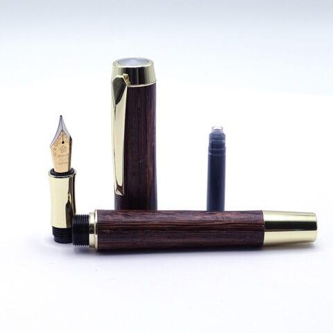 Penna stilografica in legno di Bubinga