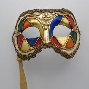 Colombina con bastone - maschera Veneziana