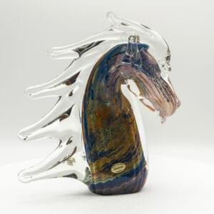 Testa di cavallo in vetro di Murano