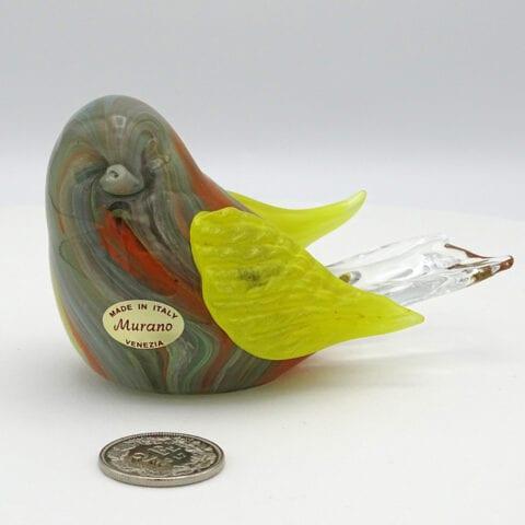 Uccelletti colorati in vetro di Murano