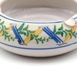 Posacenere in ceramica tornito e dipinto a mano