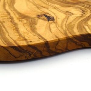Tagliere tondo in legno di ulivo con manico