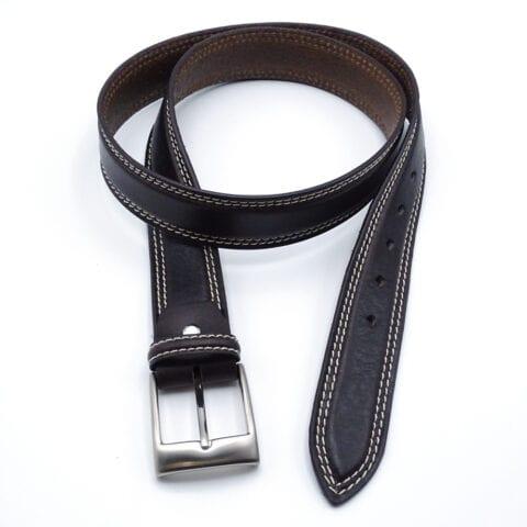Cintura in cuoio scuro