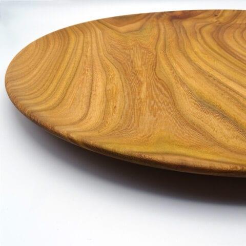 Vassoio tornito in legno di olmo