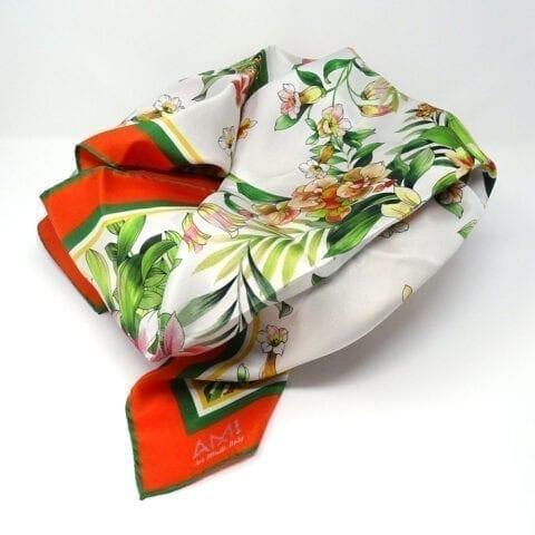 Foulard seta vintageflower 1