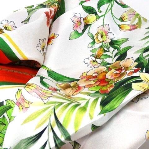 Foulard seta vintageflower 2