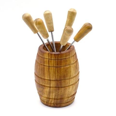 Forchettine fondue legno 1