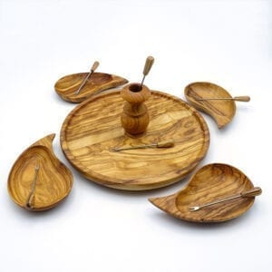 Vassoio fondue legno ulivo-02