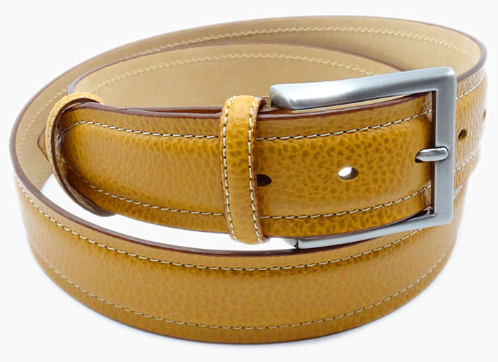 AMI Art Made Italy yellow leather belt